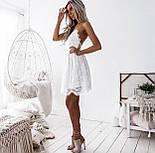 Літній гіпюрову коротке плаття з відкритою спинкою і розкльошеною спідницею (р. 42-46) 48032725, фото 7