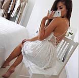 Літній гіпюрову коротке плаття з відкритою спинкою і розкльошеною спідницею (р. 42-46) 48032725, фото 8