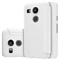 Кожаный чехол Nillkin Sparkle для LG Google Nexus 5X белый, фото 1