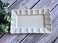 Блюдо Рельеф белое ширина 25,5 см, фото 1