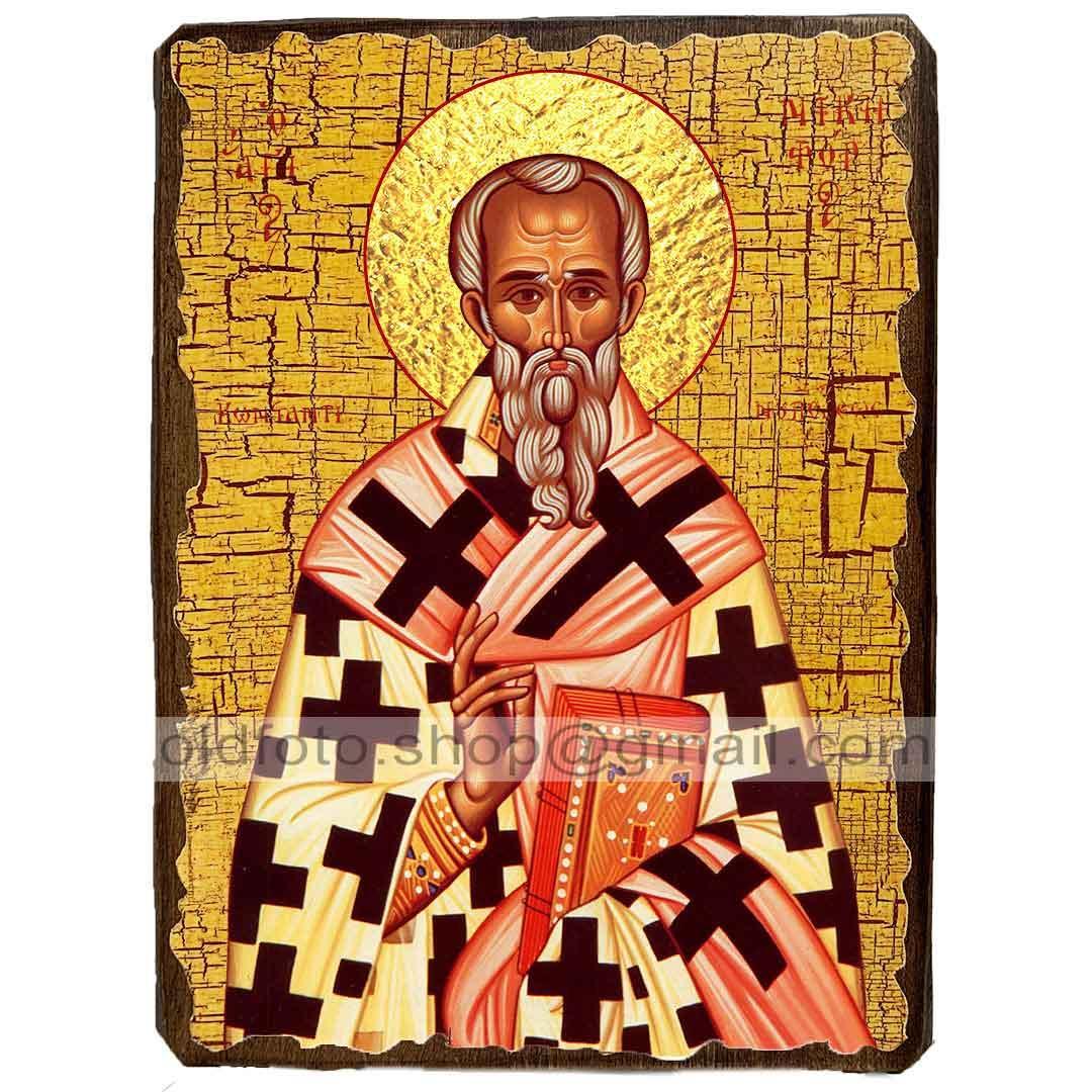 Икона Никифор I, патриарх Константинопольский, Святитель Исповедник ,икона на дереве 130х170 мм
