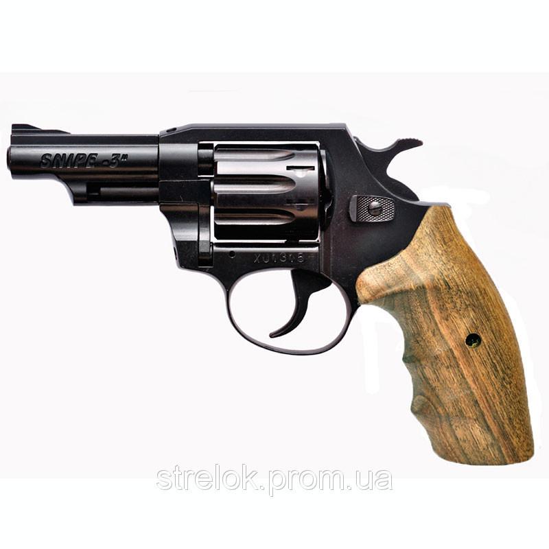"""Револьвер Флобера Snipe 3"""" (рукоять орех)"""