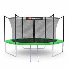 Батут Hop-Sport 10ft (305cm) green з внутрішньою сіткою 3 ноги