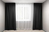 Комплект штор микровельвет Чорний, фото 1