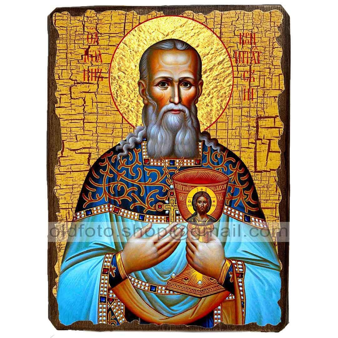 Ікона Праведний Іоанн Кронштадтський ,ікона на дереві 130х170 мм