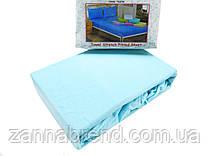 Комплект махровая простынь на резинке 220*240+25 см и 2 наволочки 50*70см цвет светло-голубой