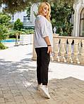 Жіночий спортивний костюм, футболка х/б , штани двунить спів, р-р С-М; Л-ХЛ, фото 5