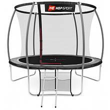 Батут Hop-Sport Premium 10ft (305cm) black/grey з внутрішньою сіткою