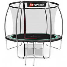 Батут Hop-Sport Premium 10ft (305cm) black/green з внутрішньою сіткою