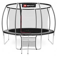 Батут Hop-Sport Premium 12ft (366cm) black/grey з внутрішньою сіткою