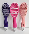 Щетка для волос продувная La Rosa пластмассовая 9520 Розовая, фото 7