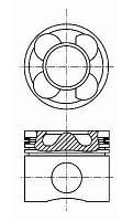 Поршень STD Mercedes Vito 2,2CDI OM646 Nural