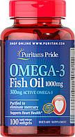 Омега-3 риб'ячий жир, Omega 3, Puritan's Pride, 1000 мг, 100 капсул, фото 1