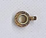 Бейл Бочонок с петлей 11х14 мм Золото античное держатель кулона, фото 4