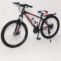 Гірський велосипед HAMMER S300 BLAST-NEW чорно червоний 26 дюймів