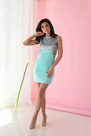 Платье ODIS 359 38 р. Бирюзовый