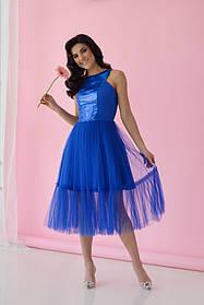 Платье ODIS 363 38 р. Электрик с электрик пайетками