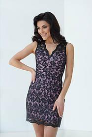 Платье ODIS 525 38 р. Пудровый с черным