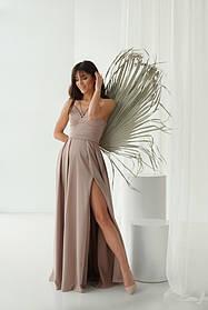 Платье ODIS 527 36 р. Бежевый