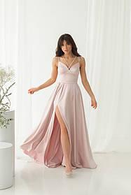 Платье ODIS 527 38 р. Пудровый