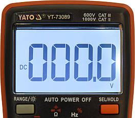 Цифровий мультиметр з РК-дисплеєм YATO YT-73089, фото 3