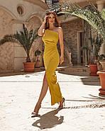 Женское нарядное платье длиною макси с красивым разрезом, фото 4