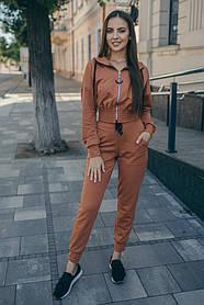Спортивный костюм ODIS 655 38 р. Терракотовый