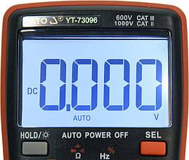 Цифровий мультиметр з РК-дисплеєм YATO YT-73096, фото 3