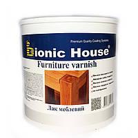 Лак для дерев'яної мебелі глянцевий на водній основі (2.5 л) Bionic House (Біонік Хаус)