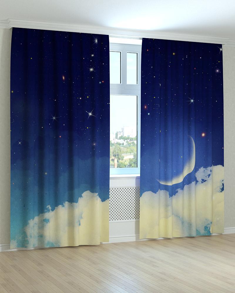 Фотошторы зірки і місяць