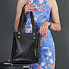 Жіночий шкіряний шоппер Даллас. натуральна Гладка шкіра, колір коричневый, відтінок Шоколад, фото 3