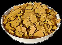 Щепа (тріска) декоративна кольорова GARDEN, 50л, жовта, квадратна, 313