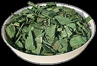 Щепа (тріска) декоративна кольорова GARDEN, 50л, зелена, квадратна, 835