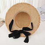Женская соломенная шляпа на лето с лентой 8307374, фото 2