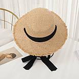 Женская соломенная шляпа на лето с лентой 8307374, фото 5