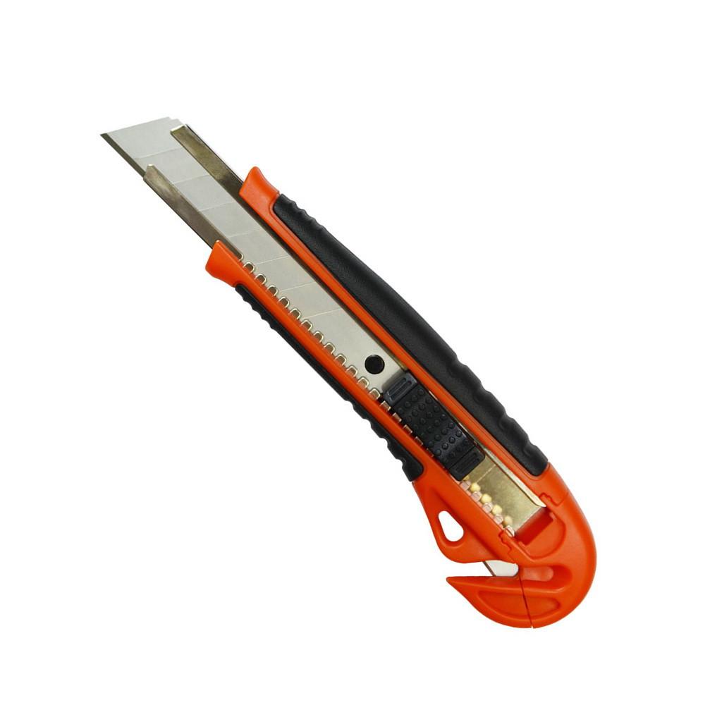 Нож универсальный Favorit обрезиненный с резаком 18 мм (13-240)