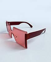 Стильные женские солнцезащитные очки, модные красные очки