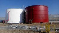 Резервуар вертикальный стальной РВС-500 м³ м.куб для ГСМ с монтажом, изготовление резервуаров