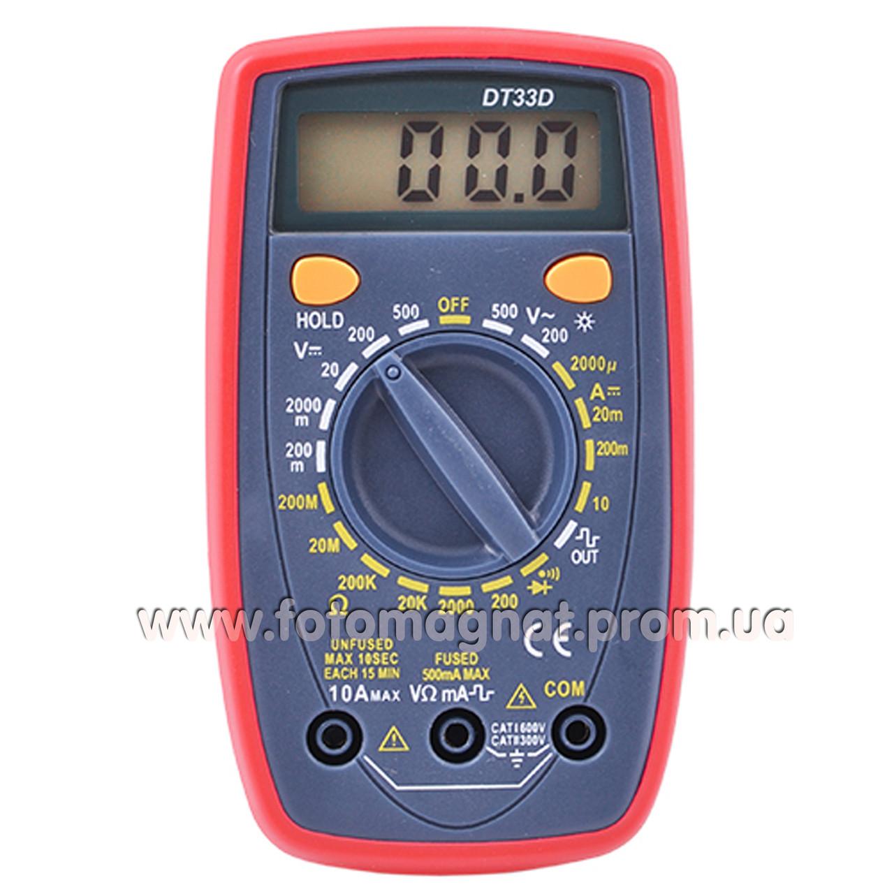 Тестер 33 D DT(тестер мультиметр)