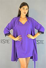 Халат, нічна сорочка - жіночий комплект домашньої одягу.