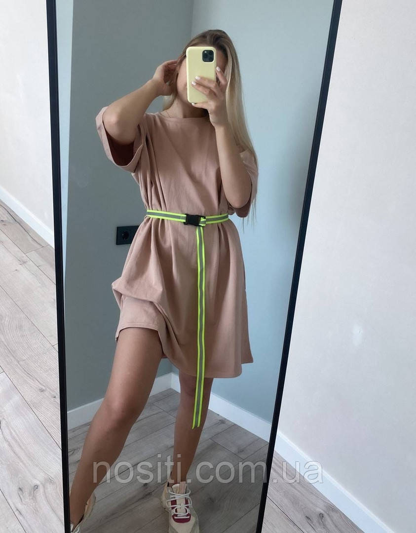 Женское платье фтболка оверсайз