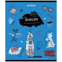 Предметная тетрадь Kite Classic K21-240-02, 48 листов, в линию, английский язык