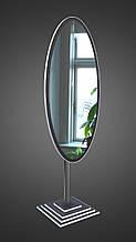 Овальное зеркало на ножке, черно-белое