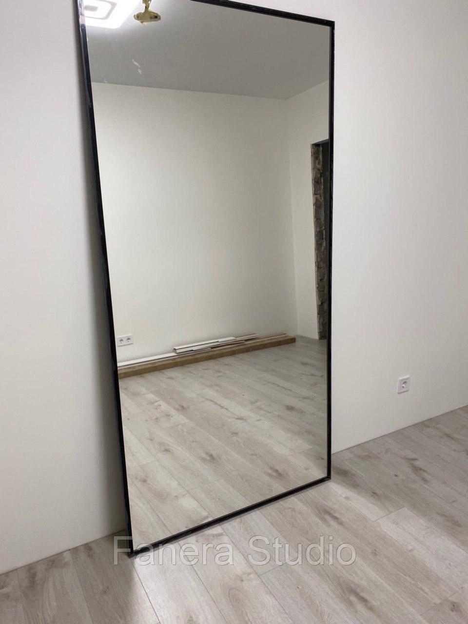 Зеркало настенное в металлической раме во весь рост 1700х700 мм большое напольное