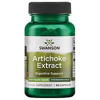 Артишок, Swanson, Artichoke, 250 мг, 60 капсул