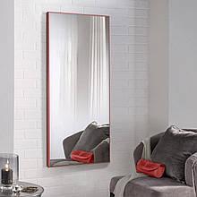 Дзеркало в повний зріст в алюмінієвій рамі, червоне