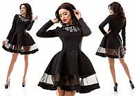 Ультра модное платье с органзой SK House (R5023), фото 1