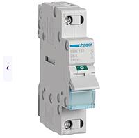 Модульный Переключатель однофазный Hager SBN132 1P 32А/230В 1м