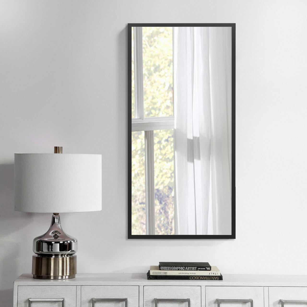 Зеркало на стену 700х500 мм черный
