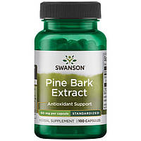 Екстракт соснової кори, Swanson, Pine Bark Extract, 50 мг, 100 капсул
